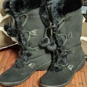 Sporto Flax Fur Suade Boots US 11M